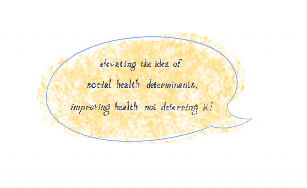 Comment bubble with quote about improving health