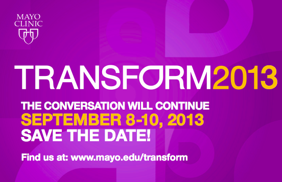 Transform reminder for 2013 conference