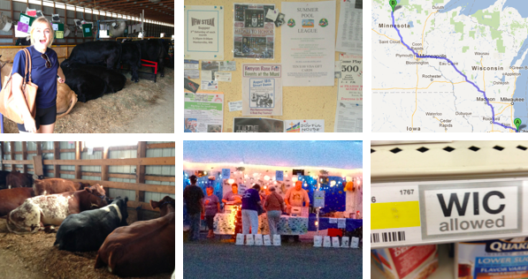 Collage of pictures from the adventures of leaving Chicago and exploring Rochester and its surrounding small towns