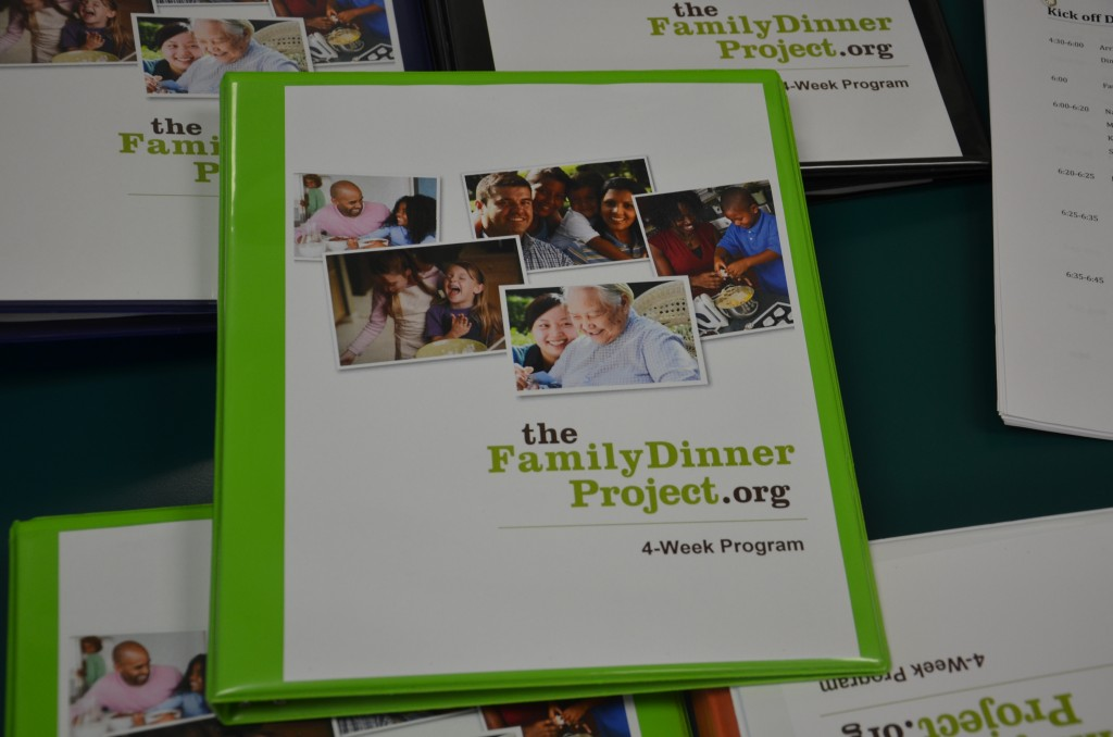 """The Family Dinner Project"" program booklet"