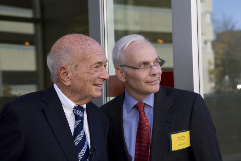 Jim Hodge with S. Daniel Abraham