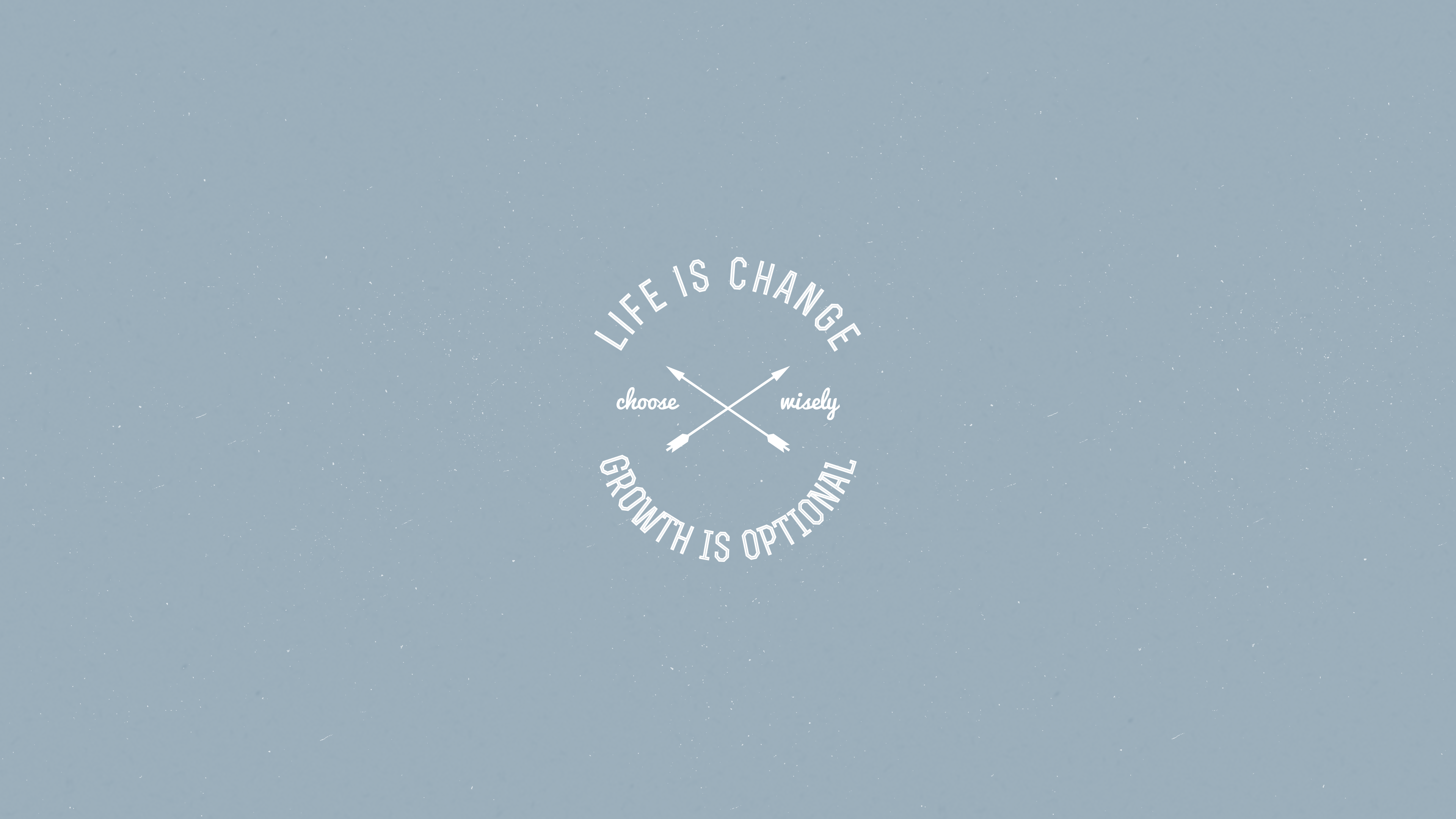 Life is change. Growth is optional.