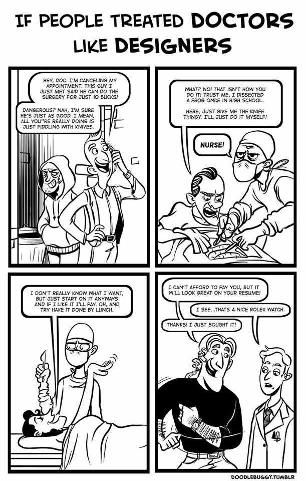 if doctors were treated like designers