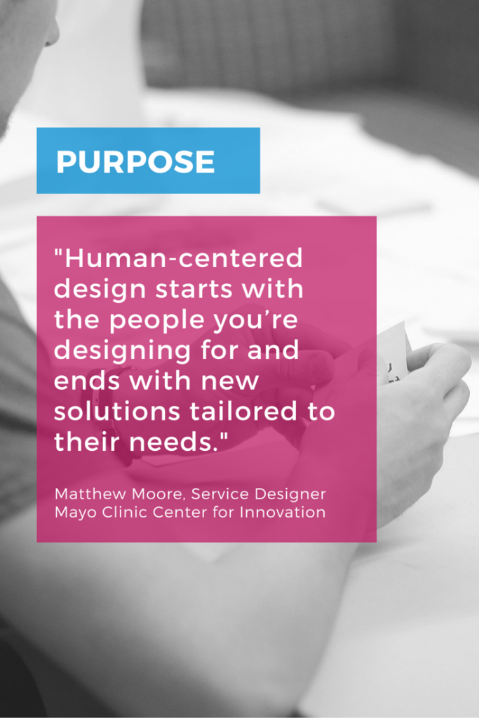 Human-centered design starts with the people you're designing for and ends with new solutions tailored to their needs.