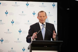 """Private hospitals such as this help to make our public hospitals better,"" Prime Minister Tonny Abbott said at the opening"