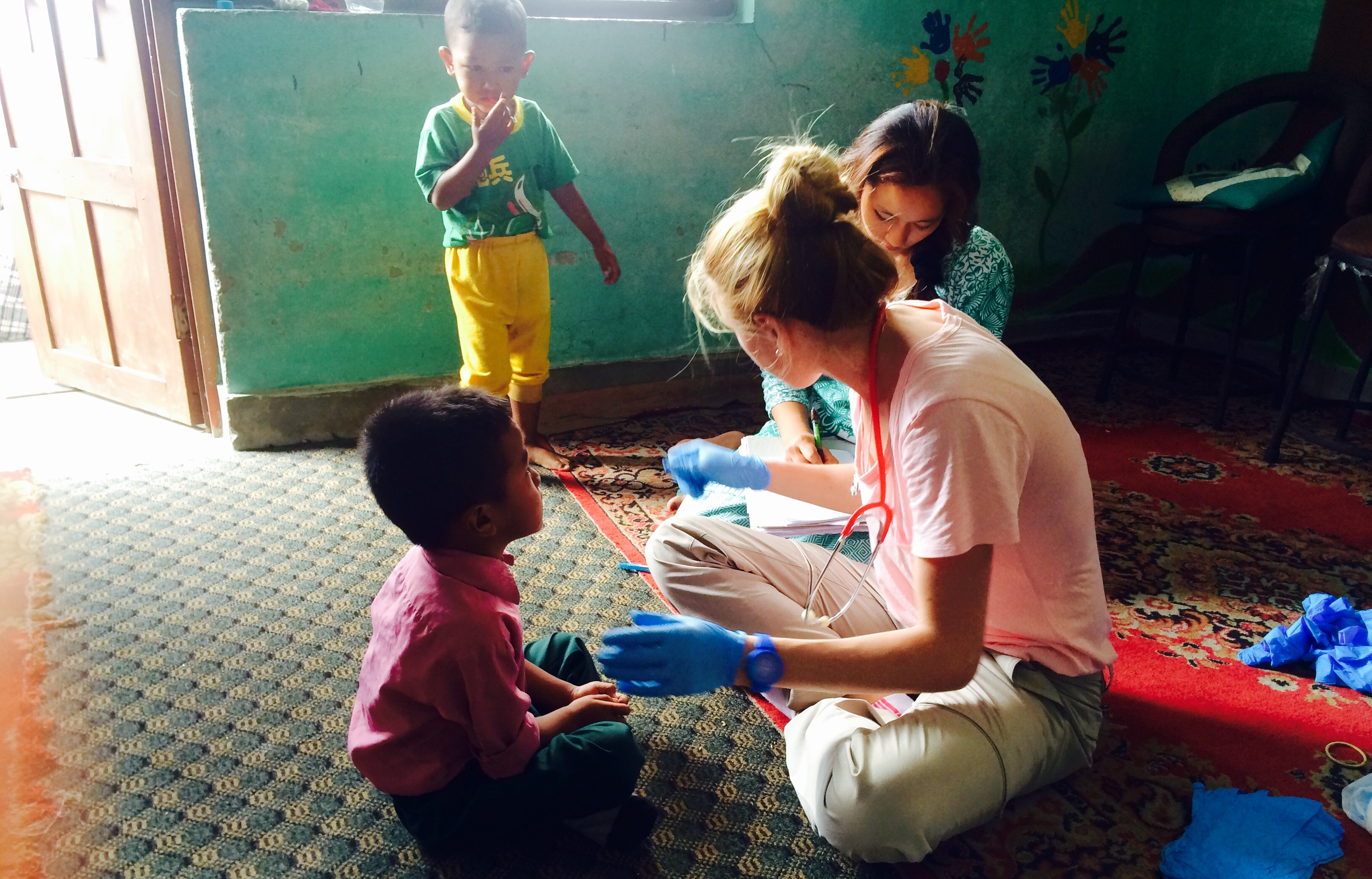 Ms Jarvie turned 30 while volunteering in Nepal