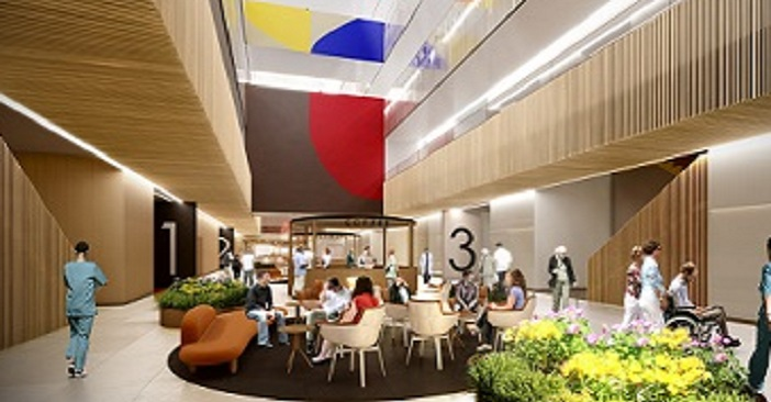 An artist's impression of the Northern Beaches Hospital atrium.