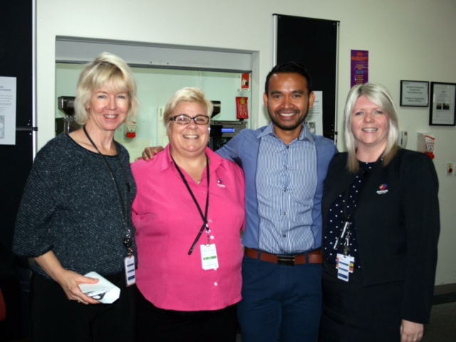 Glenys Thomas (left) with fellow palliative care practitioners.