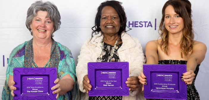 The winners of the 2018 HESTA Australian Nursing and Midwifery Awards.