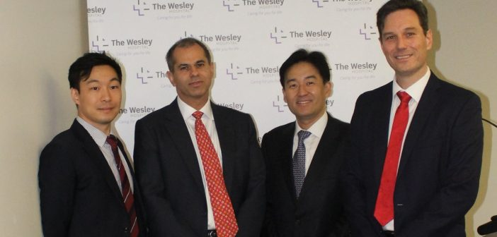 Dr Lawrence Kim, Professor Christopher Eden, Professor Koon Rha and Wesley Associate Professor Troy Gianduzzo.