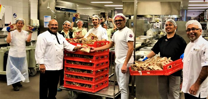 North Shore Private Hospital bought 500 hot cross buns for staff from Bakers Delight in St Leonards.