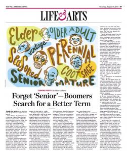 Looking for term to describe seniors???