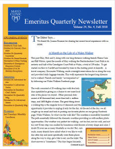 Fall Emeritus Quarterly Newsletter (EQN) now available online