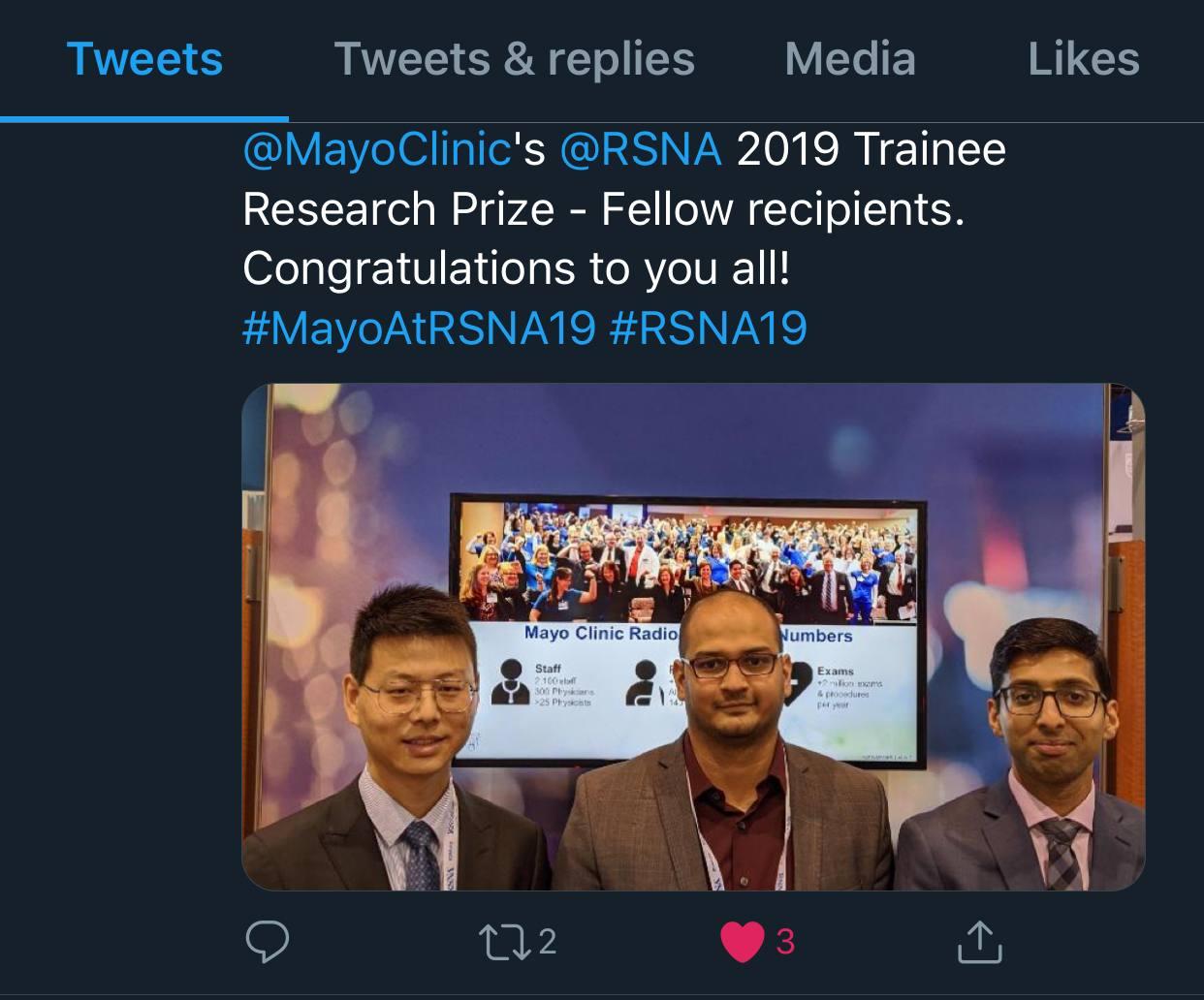 Congratulations Liqiang Ren (left) and Kishore Rajendran (middle)!