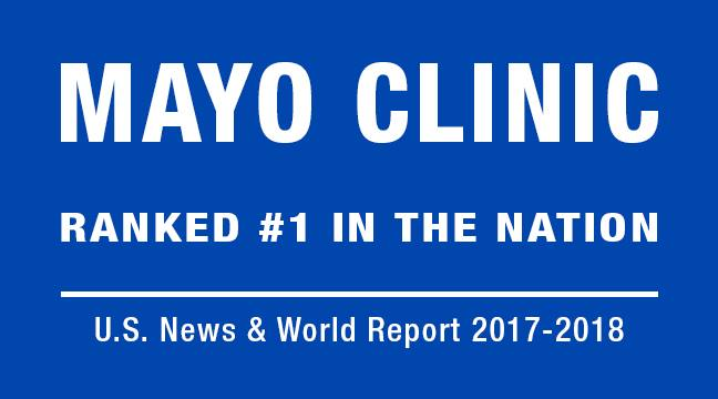Mayo Clinic Ranked #1 in U.S. News and World Report