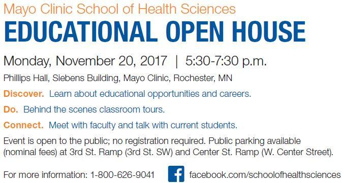 MSHS Open House 112017