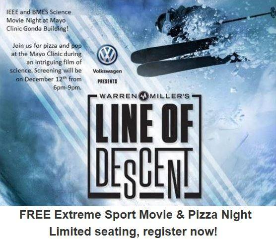 FREE Extreme Sport Movie and Pizza Night