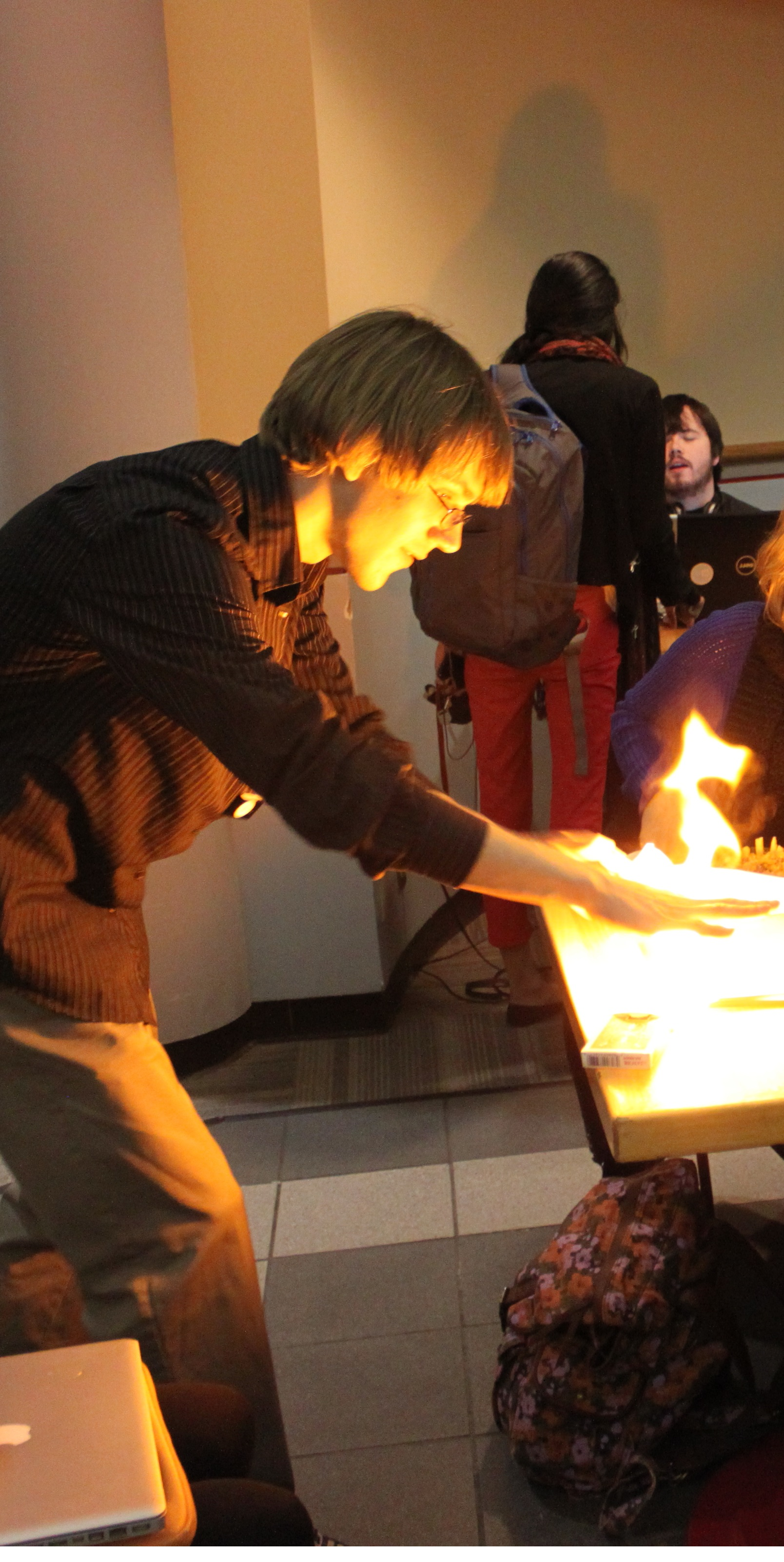 Magic trick with fire