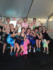First year physical therapy students that plunged to raise money for Minnesota Special Olympics. Photo by Rachel Rebhan