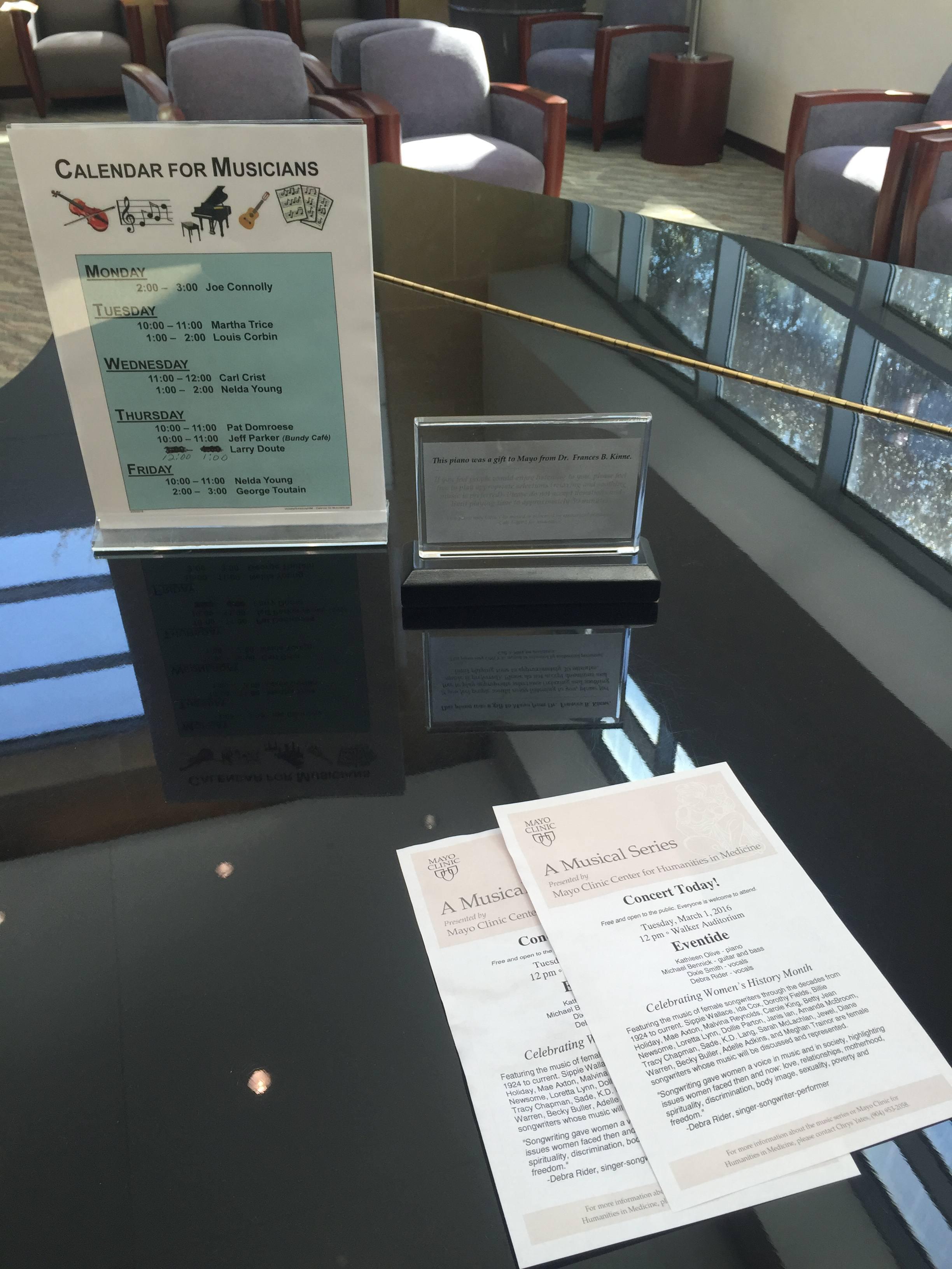 Mayo Clinic Jacksonville Piano