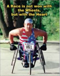 Bob Bardwell crushing a race with his mind, heart, and will (combined with amazing abilities in his wheelchair).