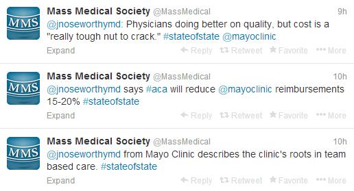 Mass Medical tweets