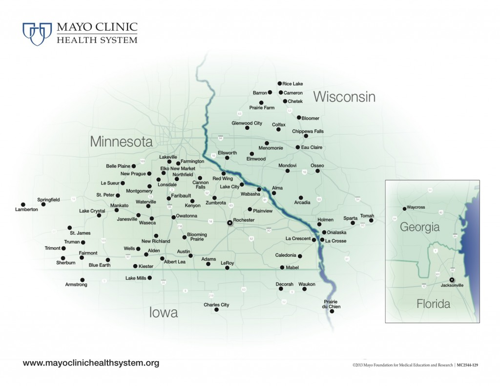 Mayo Clinic Health System Map