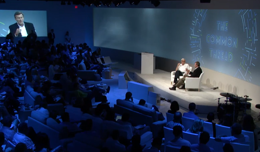 Dr. Noseworthy and Tom Brokaw at Google Zeitgeist conference 2014