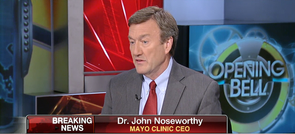 Dr. John Noseworthy's appearance on Opening Bell with Maria Bartiromo, September, 24, 2014