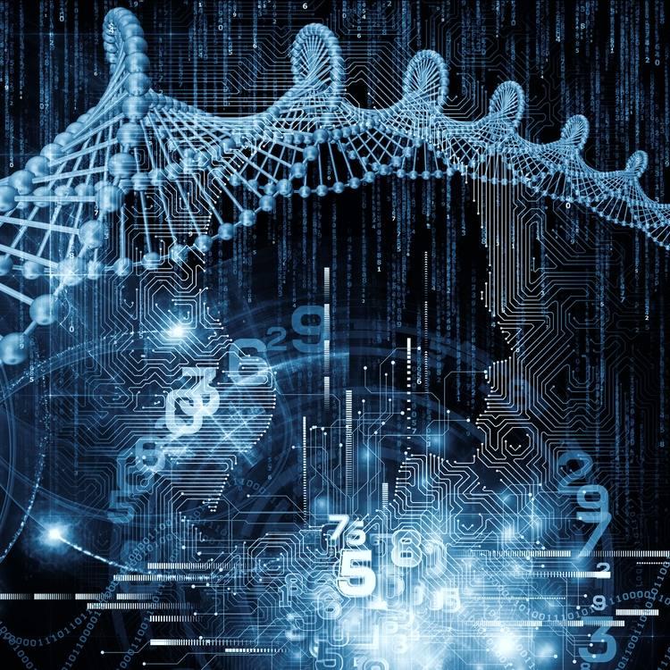 تكوين نسيج لوحة دوائر الكمبيوتر والملف الشخصي البشري وصور التكنولوجيا المستقبلية