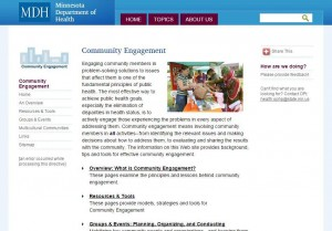 Minnesota Department of Health Community Engagement Home