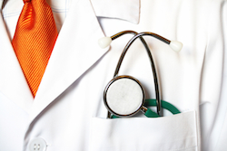 picture of physician's lab coat