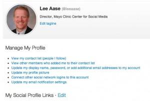 Edit my social profile links