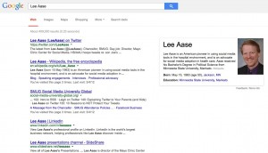 Lee Aase Google results