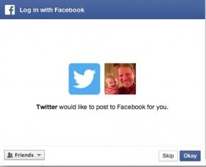 Skip tweeting to Facebook