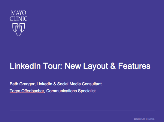 LinkedIn: Tour of New Layout and Features