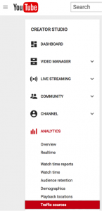YouTube Referral Traffic - Analytics Section