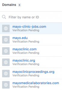 List of Domains
