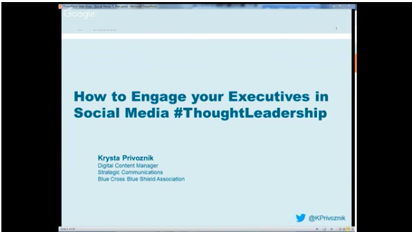 How to Engage your C-Suite in Social Media #ThoughtLeadership