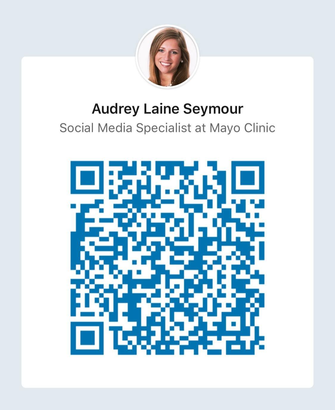 Audrey Laine's LinkedIn QR Code
