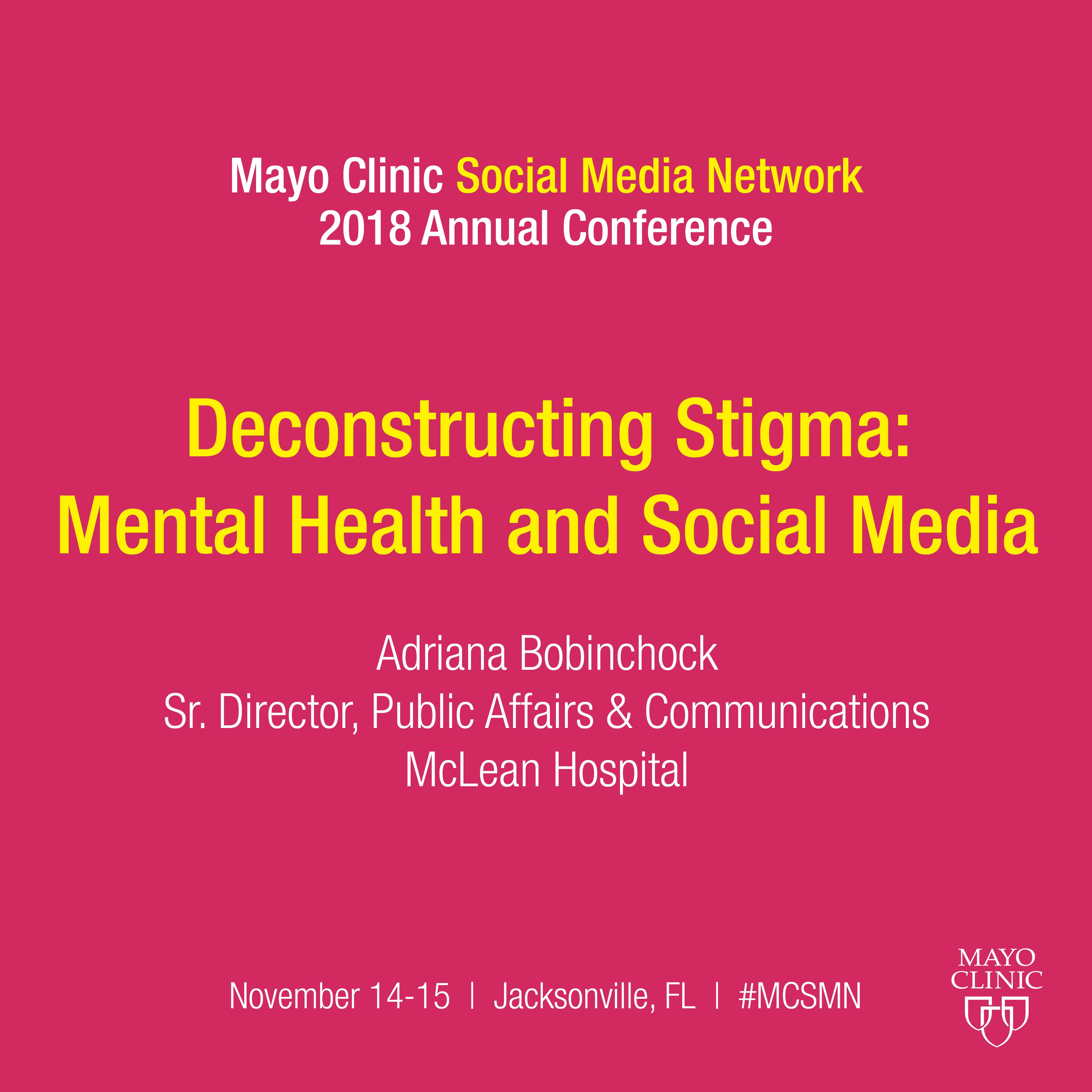 Mental Illness and Social Media | Mayo Clinic Social Media Network