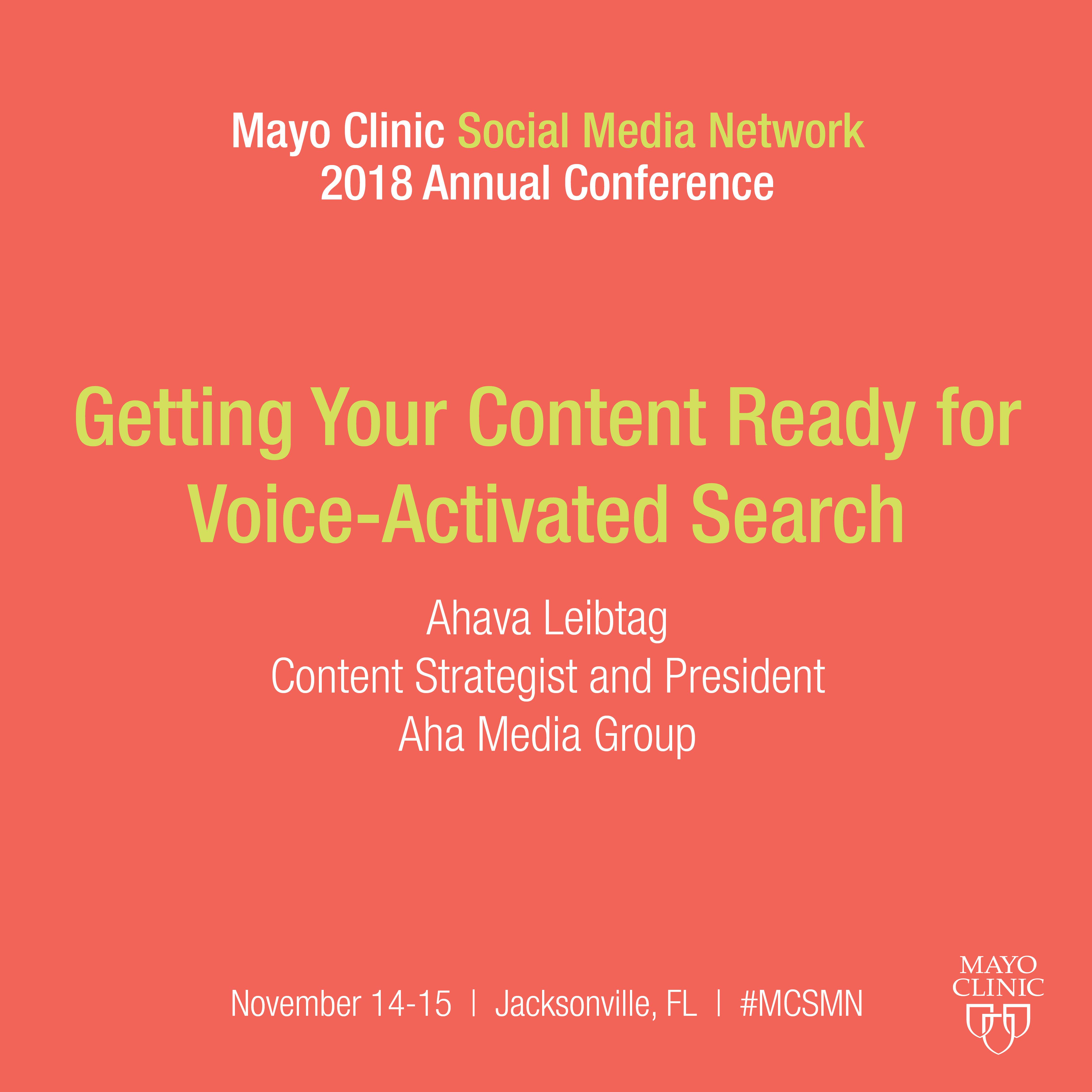 Preparing your Content for Voice