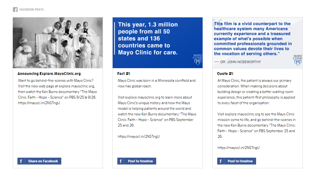 Announcing The Mayo Clinic Film Social Press Kit