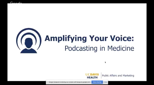 Amplifying Your Voice: Podcasting in Medicine