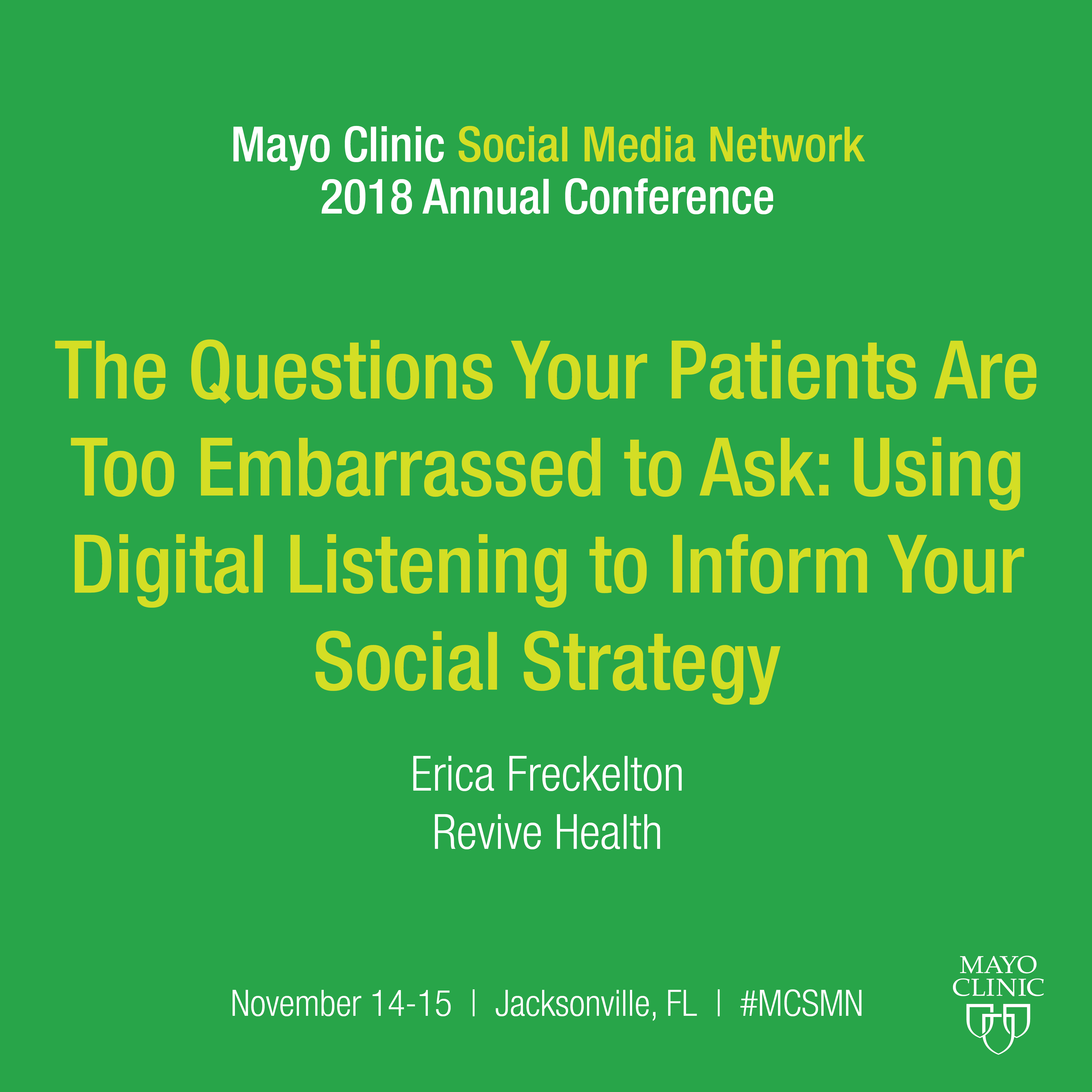 The Questions Your Patients Are Too Embarrassed to Ask: Using Digital Listening to Inform Your Social Strategy