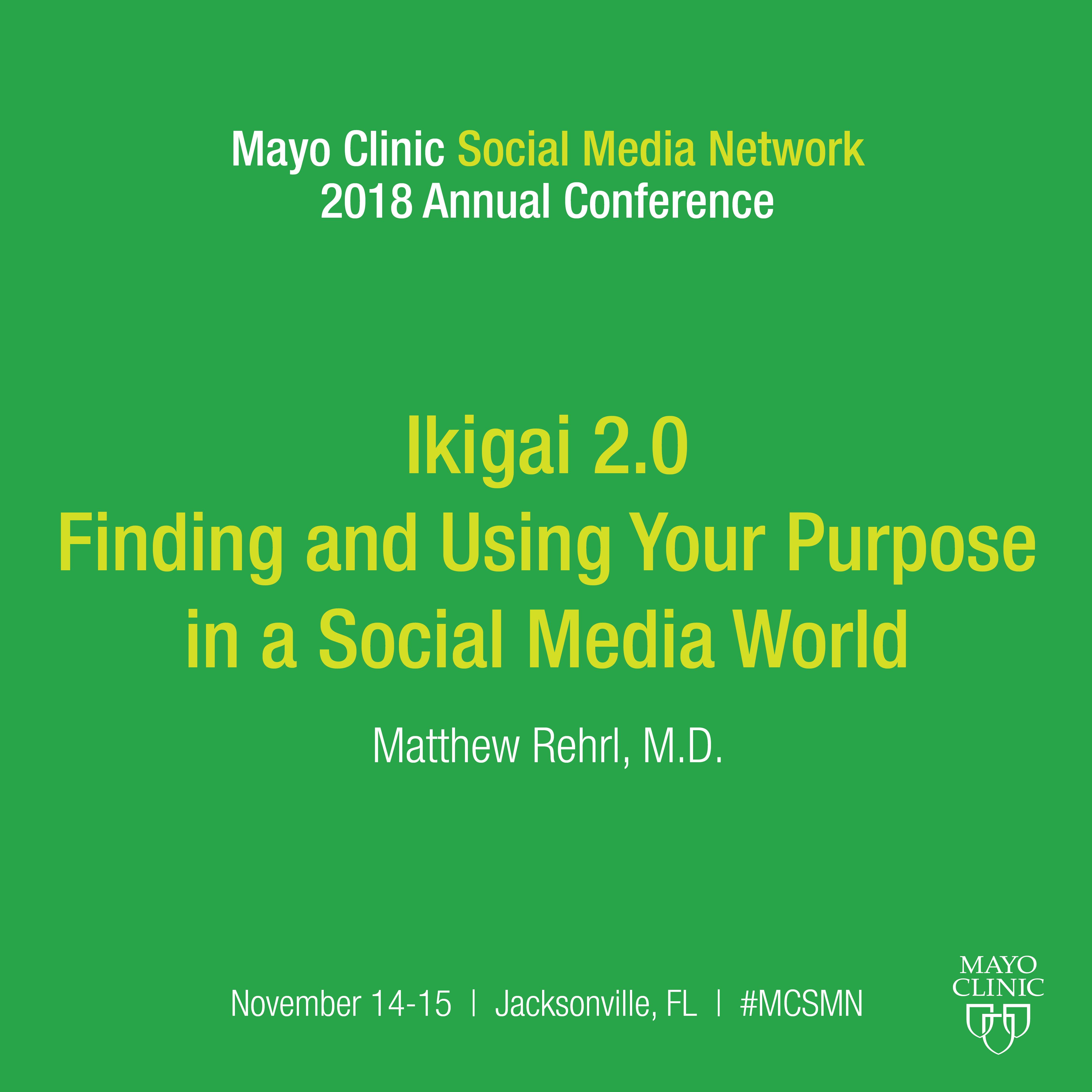 """An """"ikigai"""" Model For Healthcare Social Media"""