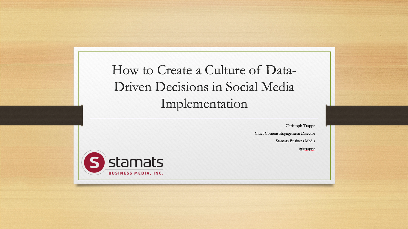 How to Create a Culture of Data-Driven Decisions in Social Media Implementation