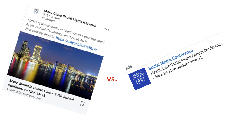 Sponsored content vs. text ad