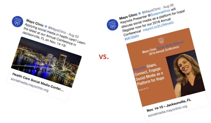 General event vs. keynote presentation promotion