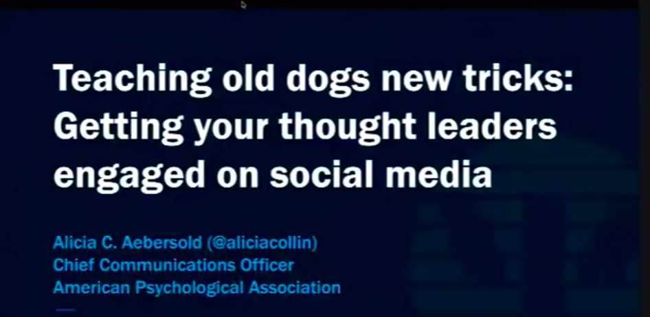 Teaching Old Dogs New Tricks: Getting Your Thought Leaders Engaged in Social Media